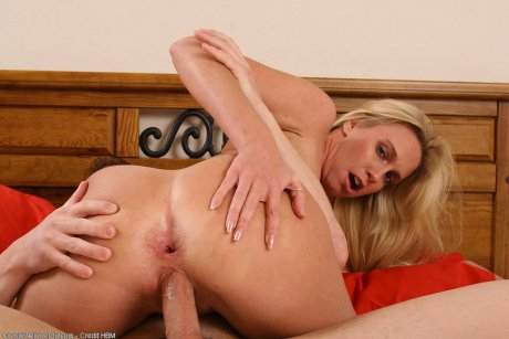 35 year old Debbie just fucking and sucking her lover young cock at AllOver30