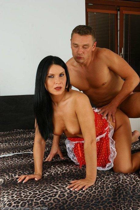 Brunette mature fucking her toy boy at AllOver30