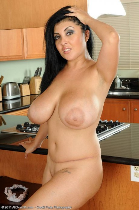 Busty and exotic MILF Jaylene spreads her ass at AllOver30