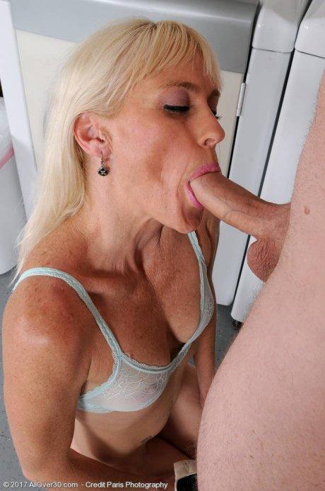Blonde mature Angelique H loves sex at AllOver30