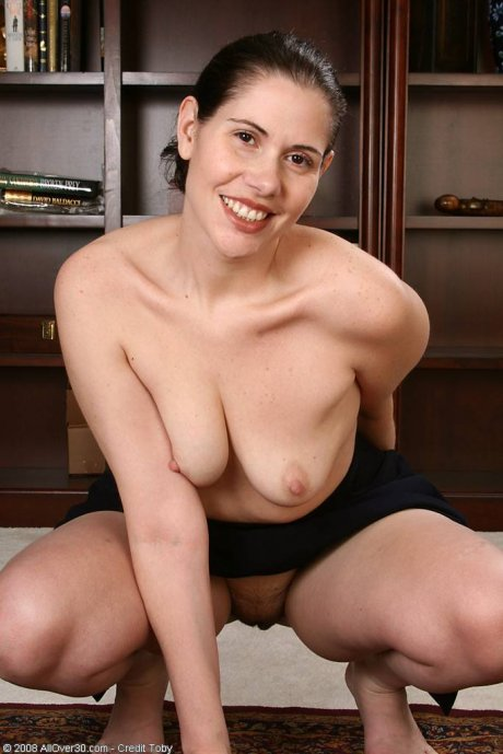 Playing a naughty auditor 37 year old India C. stips down naked at AllOver30