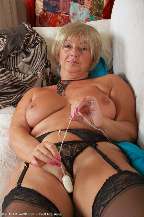 At 62 years old Samantha T knows exactly what to do with her toys at AllOver30