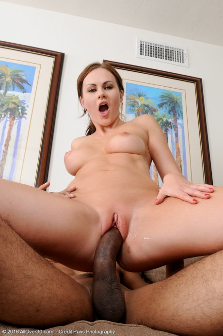 Gorgeous busty Tina Fay gets fucked by her lucky guy at AllOver30