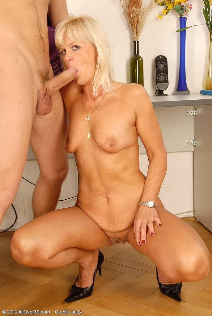 MILF Jenny F just fucking with her toy boy at AllOver30