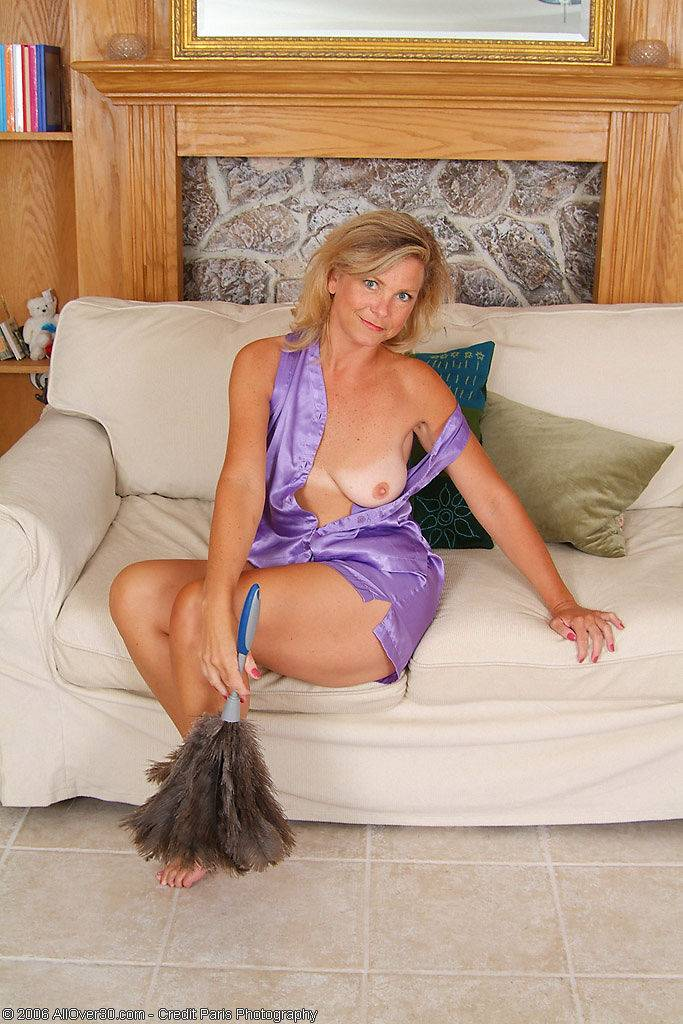 Older Babe In Purple Lingerie Poses For All To See At Allover30