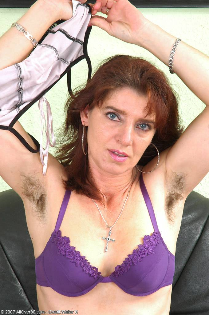Hairy Pits And Full Bush Is Witing For You On This Natural Milf At Allover30