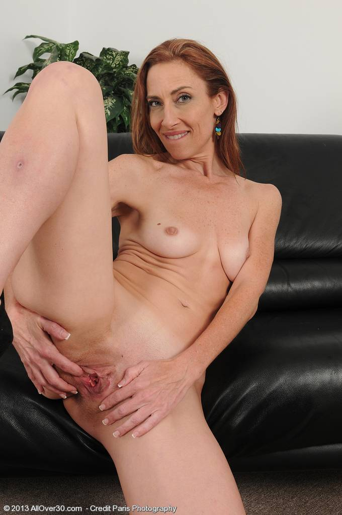 Petite and flexible Betty Blaze opens her 43 year old pussy wide at AllOver30