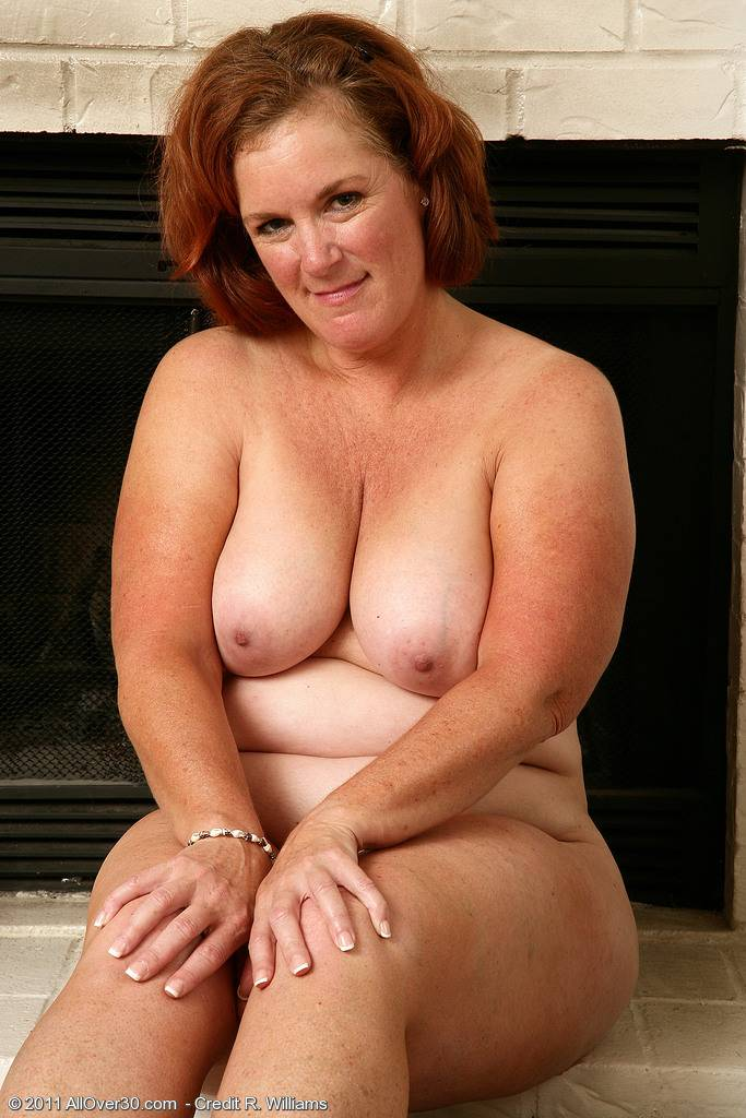 Big And Busty Lucy A Strips And Spreads Her Hot And Hairy Beaver At Allover30