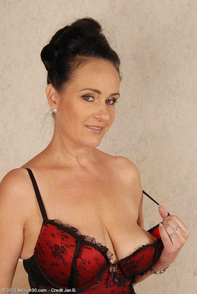 44 Year Old Ria Black Looking Fantastic In Her Lingerie At Allover30