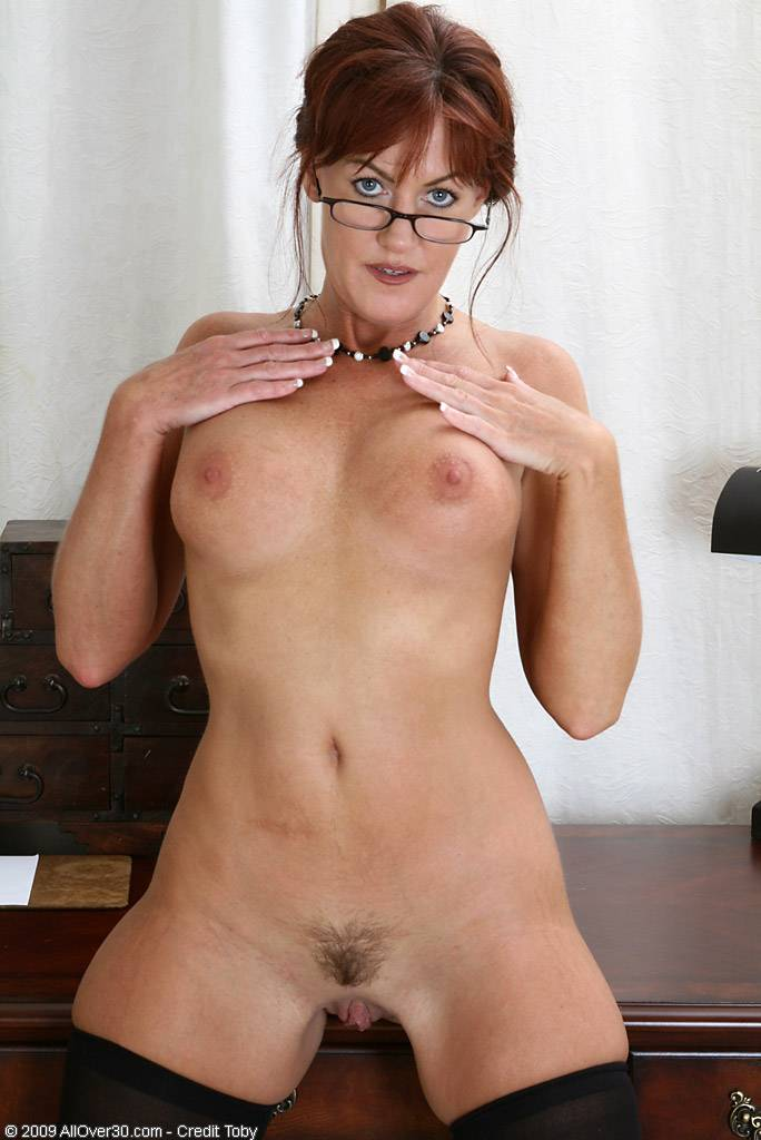 Office MILF Shauna shows off her perfect body at AllOver30